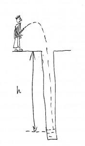 ЕГЭ задача В12 Мальчик бросает камушки в колодец